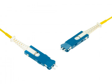 SN-Duplex to SN-Duplex A1 SMF cable, yellow