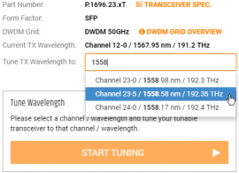 FLEXBOX: How to tune DWDM Wavelength of your transceiver